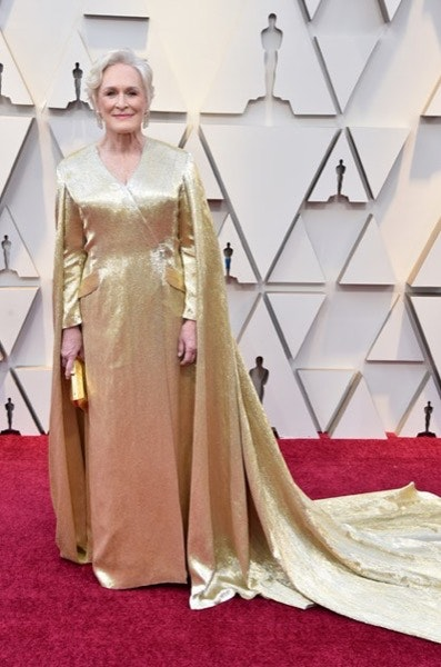 Glenn Close em Carolina Herrera
