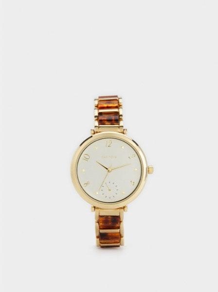 Se ela anda sempre a correr atrasada de um lado para o outro, talvez esteja na hora de lhe oferecer um relógio. | Relógio Parfois, 32,99€